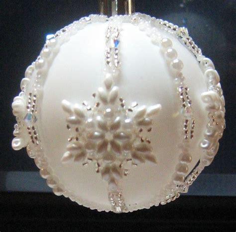 beaded snowflake ornament 1000 images about ornaments on
