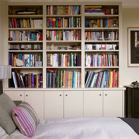 bedroom bookshelf fitted storage unit ideas housetohome co uk