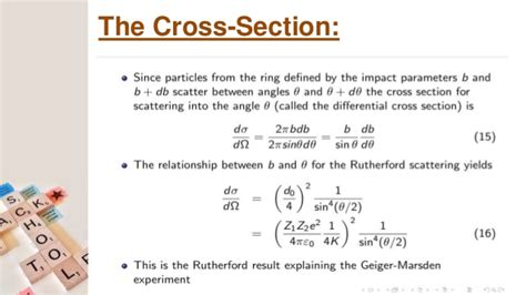 rutherford cross section rutherford scattering scattering cross section