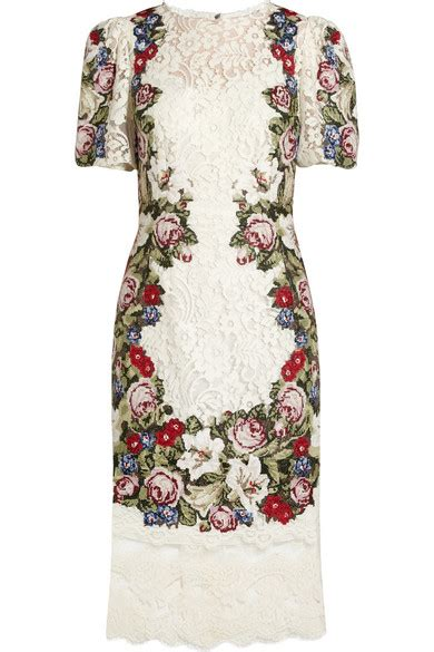 Friday Afternoon Dresses From Net A Porter by Dolce Gabbana Tapestry And Lace Dress Net A Porter