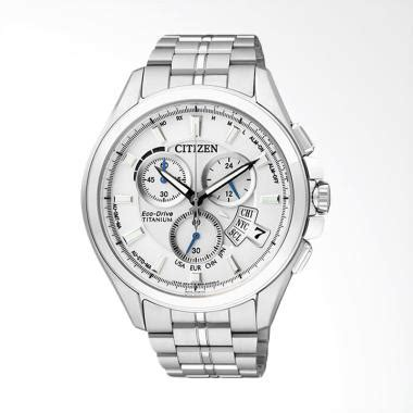 Jam Tangan Pria New Citizen Rantai Silver White Premium jual citizen eco drive radio duratect titanium jam tangan pria silver white by0051 55a