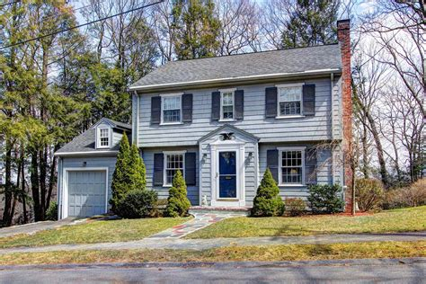 small colonial homes classic small garrison with center staircase and