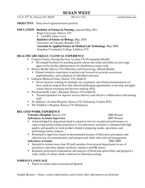 Entry Level Nursing Resume by Best 25 Rn Resume Ideas On Nursing Cover