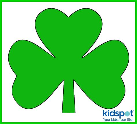 printable shamrock images shamrock st patrick s day free printable
