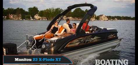 boating magazine reviews announcements manitou pontoon boats