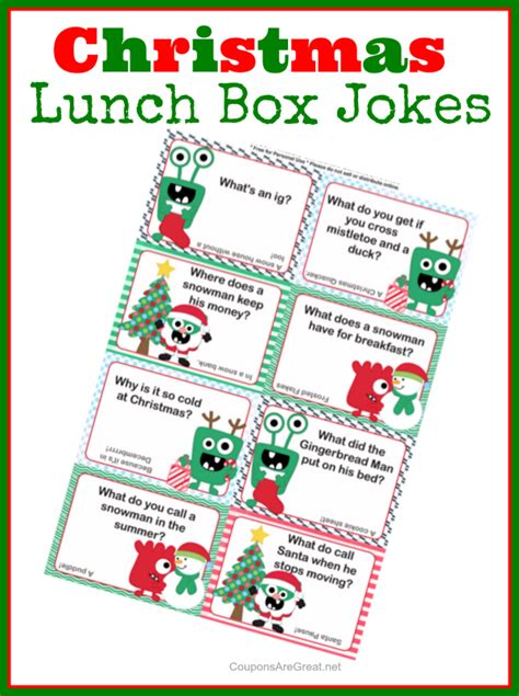 printable christmas joke cards best lunch boxes for adults quotes