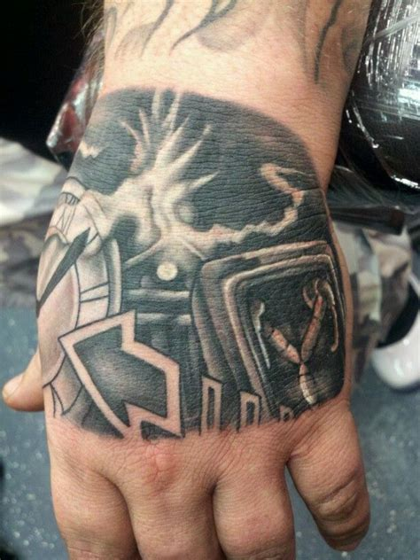 back to the future flux capacitor hand tattoo bttf
