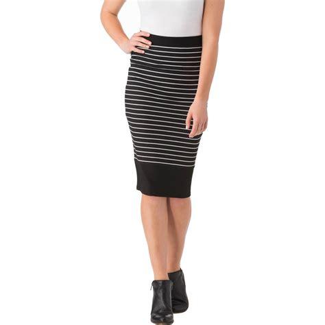 joe b juniors rib stripe pencil skirt skirts apparel