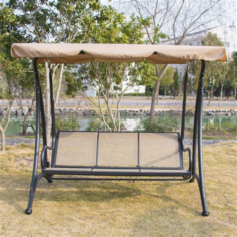 outdoor glider swing save 27 bestmart inc outdoor 3 person canopy swing