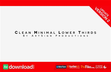 lower thirds after effects templates clean minimal lower thirds videohive project free