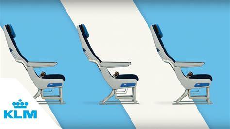 klm extra comfort seats klm relax in economy comfort youtube