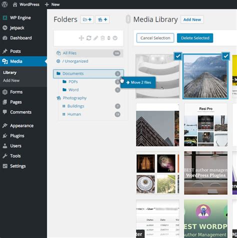 themes wordpress library wp real media library categories folders wordpress