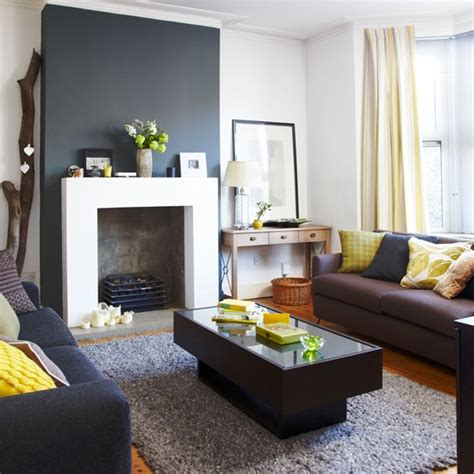 Yellow Black And Gray Living Room by Grey Living Room With Splashes Of Yellow How To Decorate With Yellow Housetohome Co Uk