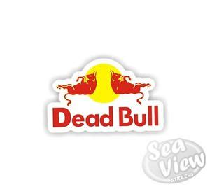 Auto Logo Roter Stier by Dead Bull Car Van Sticker Decal Funny Logo Remake Stickers