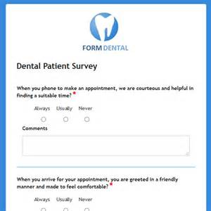 dental patient satisfaction survey template formwize exles