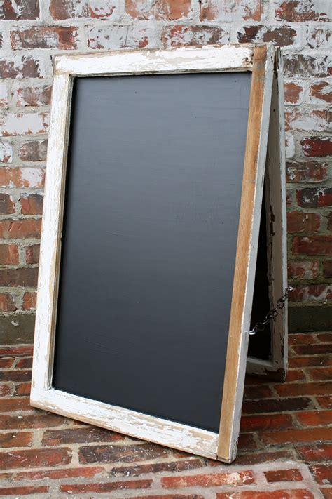 diy chalkboard easels diy window chalkboard easel