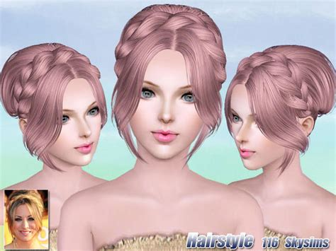 sims 3 hair braid tsr the sims resource over braided crown bun hairstle 116 by skysims sims 3 hairs