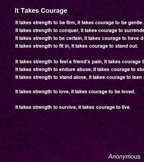 going alone a of courage and independence books it takes courage poem by anonymous poem