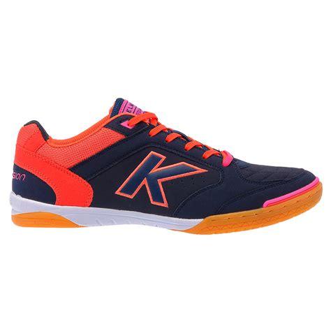 sepatu futsal original kelme precision navy orange