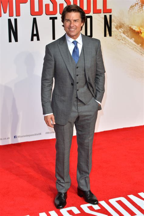 Tom Hit The Carpet by Tom Cruise Charms In Three Suit At Mission