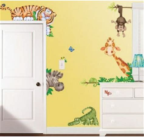 wall stickers jungle theme large jungle nursery decals for your baby room walls