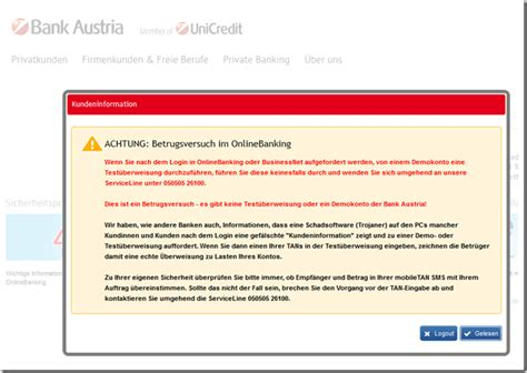 bank austria login probleme achtung betrugsversuch im onlinebanking bank austria