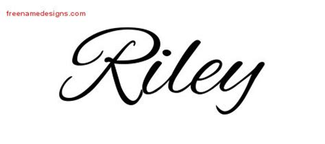 riley name tattoo design cursive name designs free graphic free name