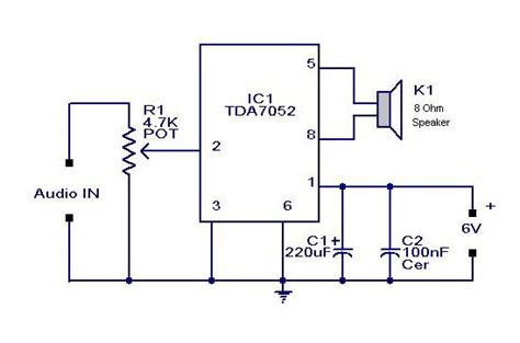 make a circuit diagram how to build an audio lifier