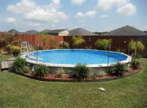 gallery for gt intex above ground pool landscaping ideas