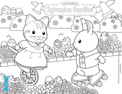 sylvanian family coloring page celebrate easter with the sylvanian families coloring
