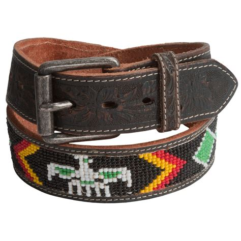 leather beaded belts will leather goods navajo beaded belt for