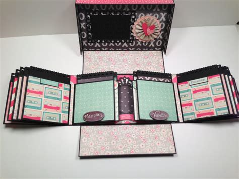 tutorial on scrapbooking boxed gatefold mini album pattern with video tutorial