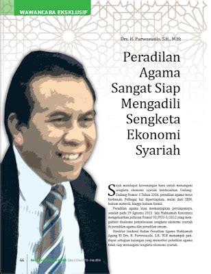 Peradilan Agama Dalam Bingkai Reformasi dirjen badilag peradilan agama sangat siap mengadili sengketa ekonomi syariah 20 12
