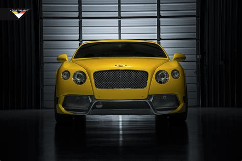 bentley yellow yellow bentley continental gt br 10rs by vorsteiner