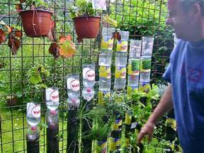 Garden Tower Vertical Container - bottle tower gardening how to start willem van cotthem container gardening