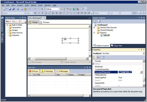 business intelligence templates for visual studio 2005 convert rdl to rdlc