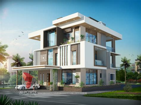 2 Storey Commercial Building Floor Plan by 3d Bungalow Design 3d Modern Bungalow Rendering