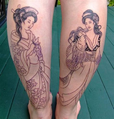 geisha tattoo art gallery geisha tattoos art by chris immortal images wynnum