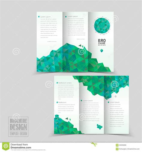 tri fold brochure layout design template simplicity tri fold brochure template design stock vector