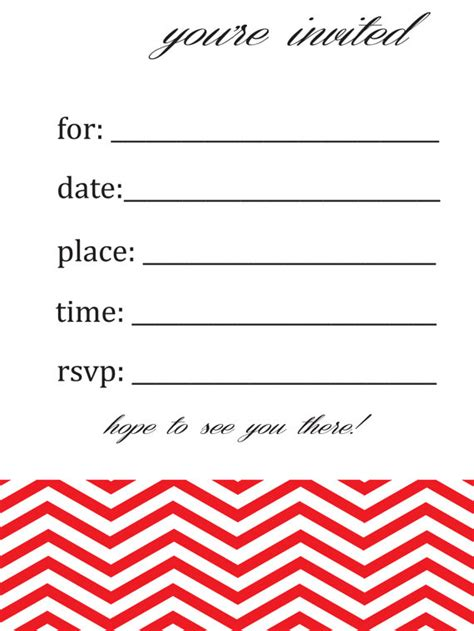 blank templates for birthday invitations items similar to general blank chevron birthday or party