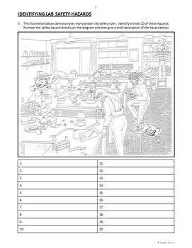 Lab Safety Worksheet Middle School by Safety In The Laboratory Worksheet Calleveryonedaveday