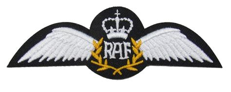 wings sew on embroidered patch badge air force military uniform r1760 raf pilot wings sew on embroidered patch badge air force