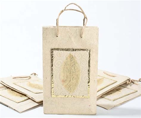Handmade Paper Gift Bags - ivory handmade paper gift bags set of 10 gift bags