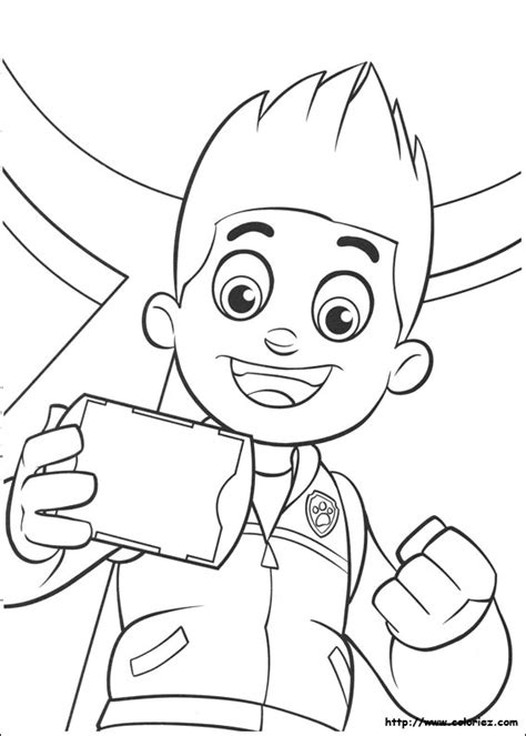 coloring pages paw patrol ryder free paw patrol ryder coloring pages