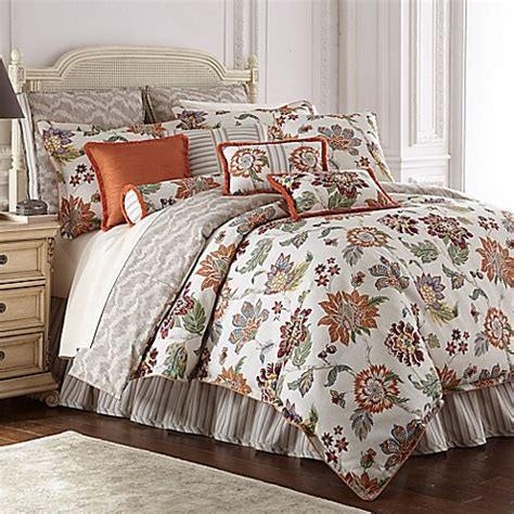 orange reversible comforter rose tree lisburn reversible comforter set in orange bed
