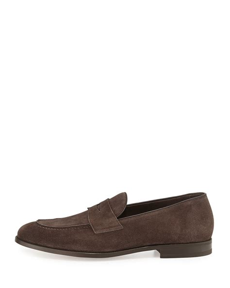 tom ford mens loafers tom ford hugh suede loafer in brown for lyst