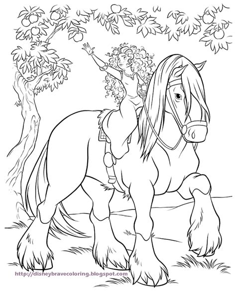 princess merida coloring page scottish princess merida from the brave movie on her