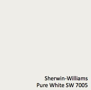 sherwin williams white sw 7005 wall color using