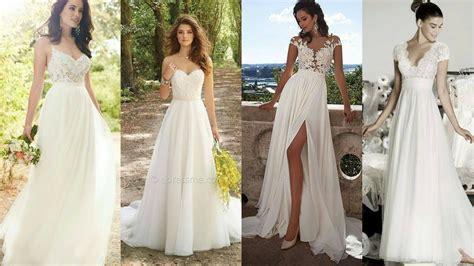 imagenes de vestidos de novia lindos vestidos de novia largos sencillos y bonitos youtube