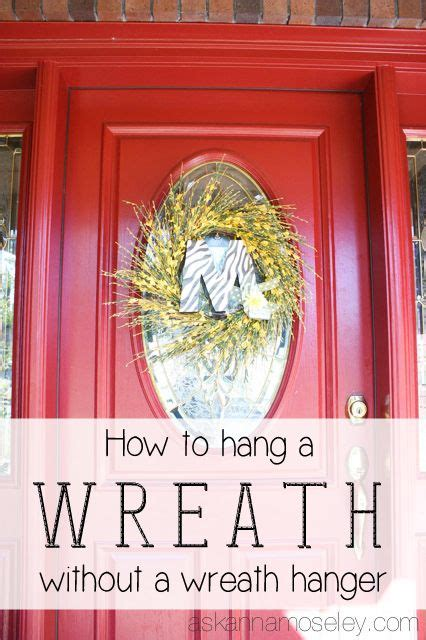 How To Hang A Wreath On A Glass Door Without A Wreath Wreath Hanger For Glass Door